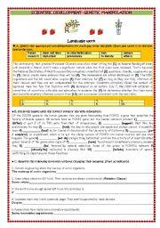 English Worksheet: SCIENTIFIC DEVELOPMENT/GENETICS