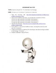 English Worksheets: TICS