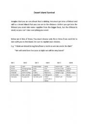 English Worksheets: Desert Island Survival