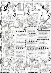 English Worksheets: music