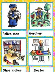 English Worksheet: jobs flash cards