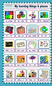 English Worksheets: My learning things