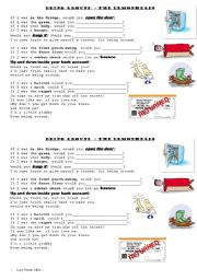 English Worksheet: Being Around - the lemonheads. Second conditional song worksheet.