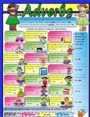 English Worksheets: Adverbs