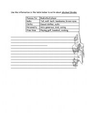 English Worksheets: writing about a planet
