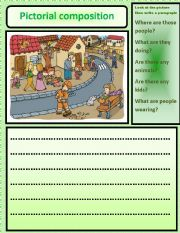 pictorial composition - ESL worksheet by nora85