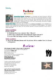 English Worksheet: Rockstar by Nickelback - Listening and discussion
