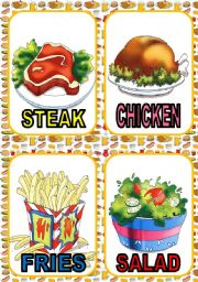 English Worksheet: FOOD FLASH CARDS #2