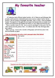 English Worksheets: my favourite teacher