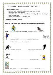 sport rules with can can t esl worksheet by almeida2011. Black Bedroom Furniture Sets. Home Design Ideas