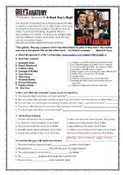 English Worksheet: Grey´s Anatomy Activity