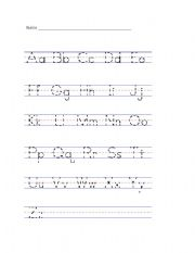 Printables Learn To Write Letters Worksheets learning to write the alphabet scalien letters worksheets davezan
