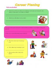English Worksheets: Career Planning Auto-evaluation