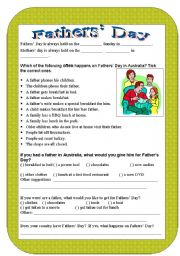 English Worksheet: Fathers´ Day