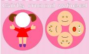 English Worksheet: Mood Wheel Kindergarten Girls Version