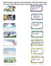 activities in each weather