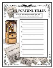English Worksheet: Future Predictions - The Fortune Teller Wksht #2