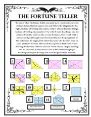 Future Predictions - The Fortune Teller Wksht #3
