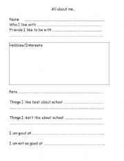 English Worksheets: Transition to a new class