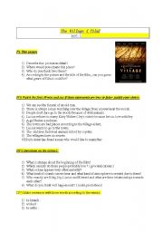 English Worksheets:  Movie : The village