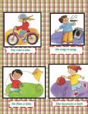 English Worksheets: flash cards about some actions