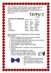 English Worksheets: UNIT 1