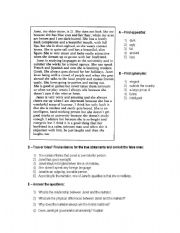 English Worksheets: My sister Janet