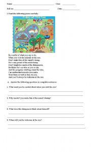 Poem comprehension esl worksheet by duapankaj1826 poem comprehension ibookread ePUb