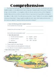 English Worksheets: the millionaire and the youngman