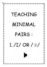 TEACHING MINIMAL PAIRS 1