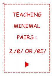 TEACHING MINIMAL PAIRS 2