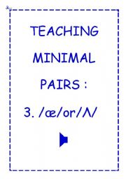 TEACHING MINIMAL PAIRS 3