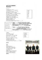English Worksheets: Song by Nickelback