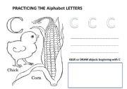 English Worksheets: Letter C