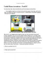 English Worksheets: Pool PC