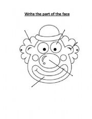 English Worksheets: Part of the Face