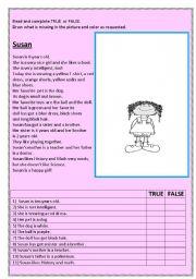 English Worksheets: Susan