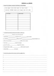 English Worksheets: revision exercises