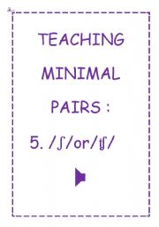 TEACHING MINIMAL PAIRS 5