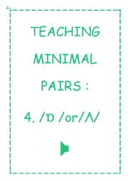 TEACHING MINIMAL PAIRS 4