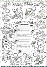 English Worksheet: Mr. Potato�s day