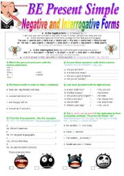English Worksheet: BE Present Simple: Negative and Interrogative Form : Lesson + 6 Exercises