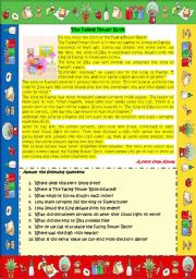 English Worksheet: A story from Asia - Korea (The Falling Flower Rock)