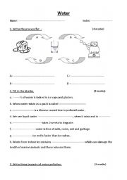 Collection of Water Properties Worksheet - Sharebrowse