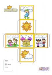English Worksheet: What´s the weather like?  -  Dice