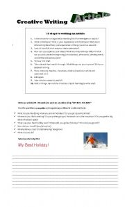 English Worksheets: Article Writing