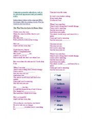 English Worksheets: Lyrics: Just the Way you are by Bruno Mars