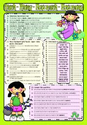 English Worksheet: MUCH-MANY-HOW MUCH-HOW MANY (B&W included)