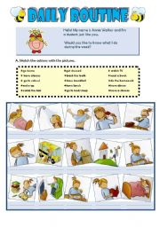 English Worksheets: Annie�s daily routine