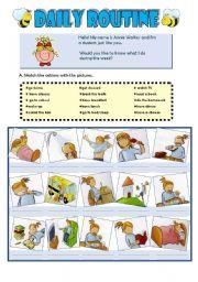 English Worksheet: Annie�s daily routine